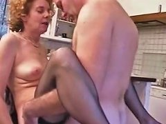 Old French Mature Offers Her Ass