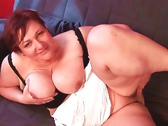 Bbw Turned On Mature Teasing Big Tits And Fat Snatch