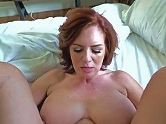 Horny Busty Milf Andy Fucks Her Step Sons Big Cock