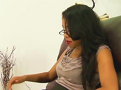 Ebony Stepmom And Teen Sucking Hard Cock