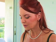 Two Redhead Women Hot Threesome Session
