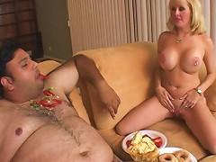 Small Dick Fat Slob Blown By A Sexy Big Tits Blonde Milf