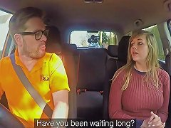 Madison Stuart In 34f Boobs Bouncing In Driving Lesson