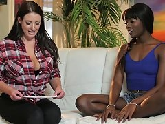 Ebony Lesbian Angela White Juicy Pussy Getting Fingered Seductively