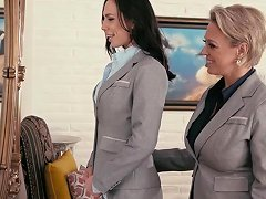 Dyke Boss Fingering Her Hot Secretary