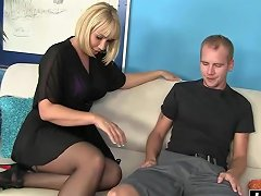 Blonde Cougar Craves For A Young Cock
