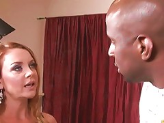 Mad Redhead Housewife Calms Down The Second She Sees A