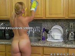 Jazmyn Naked Latina Maid Hot Tease
