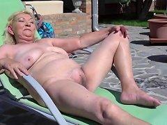 Grandma Irene Does Rimjob