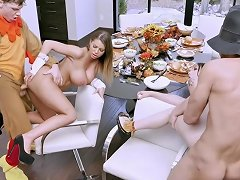 Familystrokes Kinky Family Thanksgiving Orgy