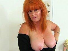 British MILF Ginger Tiger Gets Filthy In Bathroom