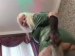 Big Mature Blonde In Fishnets